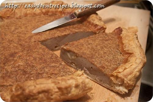 Corsican chestnut flour flan