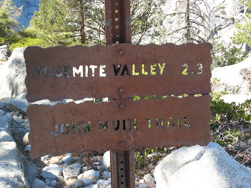 Trail Sign on John Muir Trail