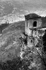 Erice (Renmarc) Tags: bw white black castle fog mono flickr favorites medieval bn more sicily faves favs bianco nero sicilia erice trapani mistery monocrome interestingess renmarc