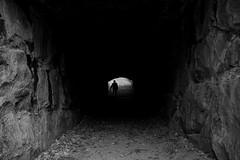 Ascend (Ilkka Hamalainen) Tags: light shadow black wall stairs dark hope sand nikon tunnel figure depression ascend valo tunneli varjo musta muuri toivo hiekka portaat supershot hahmo nousu d40x ahdistus