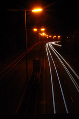 ray of light (The Blu-Tack Kid) Tags: road light car night streetlight nightshot beam headlight rays anawesomeshot aplusphoto