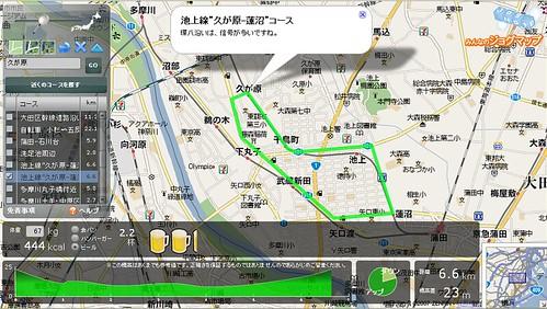 池上線コース(久が原-蓮沼)