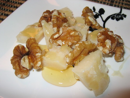 Parmigiano Reggiano with Honey and Walnuts