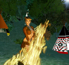 Machinima Sim _ Indian town set