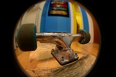 Fish Truck (No Name D) Tags: old school rat wheels mini oldschool skateboard powell trucks peralta ratbones variflex plankskate minirat