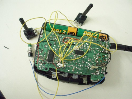 Hacked portable radio