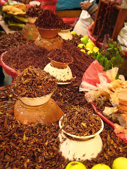 Chapulines in Oaxacan Market