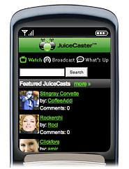 Screenshot of JuiceCaster Mobile Video Search