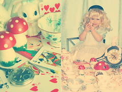 A Rabbit? Grab it! (boopsie.daisy) Tags: birthday baby bunny clock vintage hearts mushrooms cards artistic expression alice adorable sadie kitsch polkadots wig teacups teapot tribute soe 16months teaparty aliceinwonderland pocketwatch humptydumpty artisticexpression supershot 10faves forashley diamondclassphotographer flickrdiamond goldstaraward
