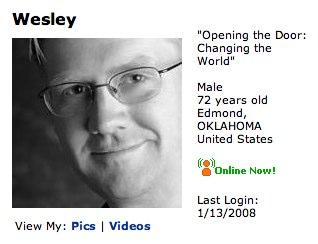 MySpace.com - Wesley - 72 - Male - Edmond, OKLAHOMA - www.myspace.com_openingthedoor