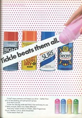1970's Tickle Deodorant (twitchery) Tags: vintage 70s deodorant vintageads rollon antiperspirant vintagebeauty
