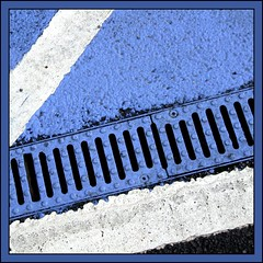 Blue.... (tina negus) Tags: road blue square leicestershire pavement drain carpark markings meltonmowbray 10faves mywinners mywinner coolestphotographers