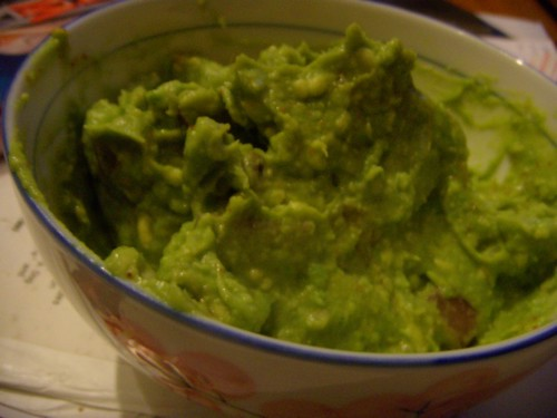 blurry guacamole