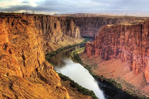 フリー画像| 自然風景| 峡谷の風景| 河川の風景| 岩山の風景| グレン・キャニオン| アメリカ風景| アリゾナ州| HDR画像|   フリー素材|