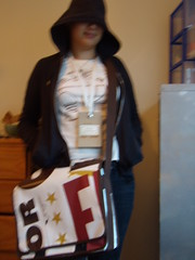 The lovely Kat modeling the Webstock bag