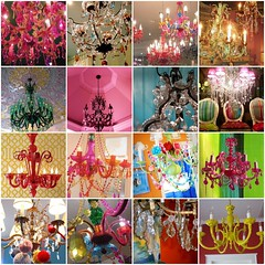 Chandelicious (Bella Luna Creative) Tags: lighting pink red lamp colorful crystals bright crystal mosaic gorgeous chandelier chandeliers anthropologie illuminate chandelicious chandeliermosaic