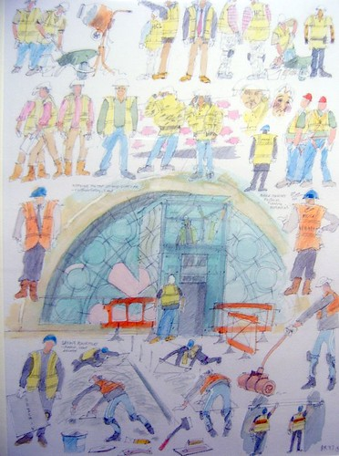 Pastel Sketches of the Refurbishment