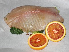 Tilapia with Blood Orange