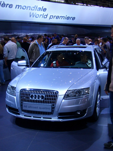 auto paris cars car 2006 salon audi a6 quattro allroad