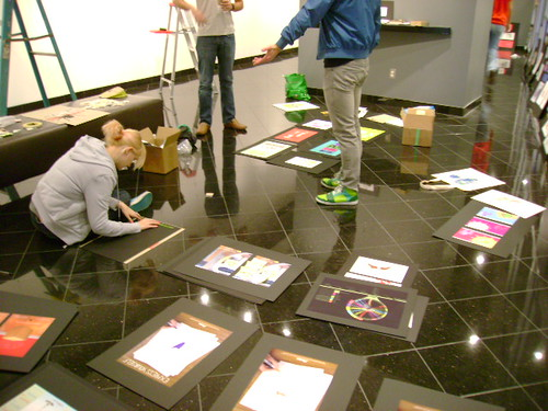 Team Hang the Show: AIGA Show Install
