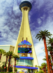 Stratosphere Tower (Wolfgang Staudt) Tags: light vacation usa lake gambling southwest tower night clouds shopping fun hotel louis grande waterfall dc spring nikon heaven boulevard desert adult d70 lasvegas nevada cartier casino peoples entertainment poker strip mojave insanity rollercoaster roulette choice graff baccarat bingo chanel vuitton dior wolfgang available bigcity stratosphere canale xscream saarbrcken the theride  keno stratospheretower greatview hsm  wolfgangstaudt staudt 61020
