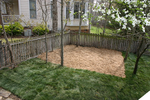 Anna's playplace with mulch