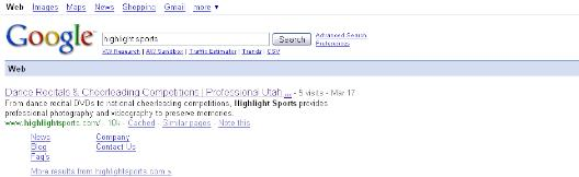 Highlight Sports has Google Authority!