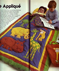 Appliquéd Zoo Sleeping Bag by Jill Mead
