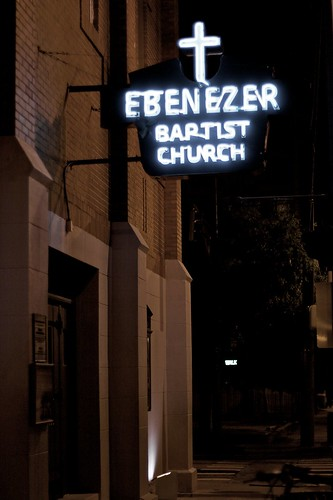 Atlanta at Night, Ebenezer Baptist Church - Martin Luther King Memorial