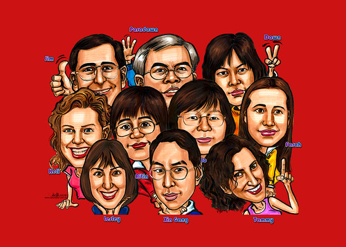Caricatures group Seagate mousepad artwork