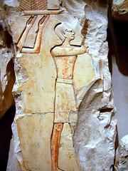 fragment from the tomb of Queen Neferu (ggnyc) Tags: nyc newyorkcity museum emblem manhattan tomb egypt relief sacred limestone ritual met thebes rites funerary metropolitanmuseumofart ancientegypt egyptology egyptianart neferu deirelbahri dynasty11 11thdynasty