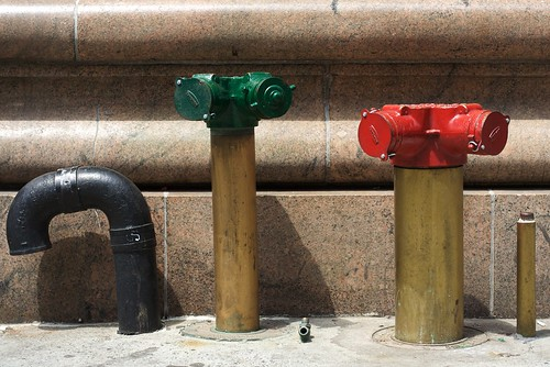 Green and Red Standpipes