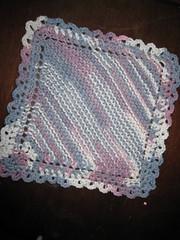 Dishcloth w/crochet edging (yelutci) Tags: handmade crochet knit ombre dishcloth cotton