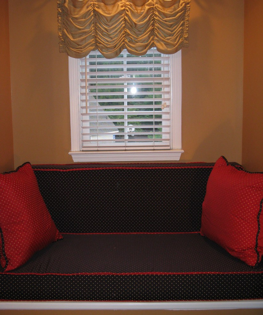 Austrian Valance with Window Nook Cushions