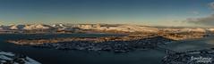 Panorama view of Tromso (SPPhotography_Finland) Tags: panorama tromsø tromso fjellheisen mountains sky bluesky ocean sea sunshine sun city canon canonphotography canonllens landscape landscapephotography norway norge abovearcticcircle north snow clouds bridge church visittromso visitnorway