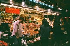 Saffron (srgpicker) Tags: 35mm analog barcelona boqueria expired film fotosistema iso100 mercado mjuii olympus mercat μmjuii food market analogue parada bcn azafran saffron centrofuji people pons vidal