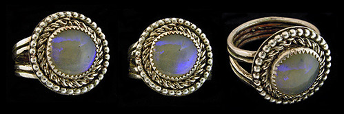 Handmade Lightning Ridge Opal and Silver Ring