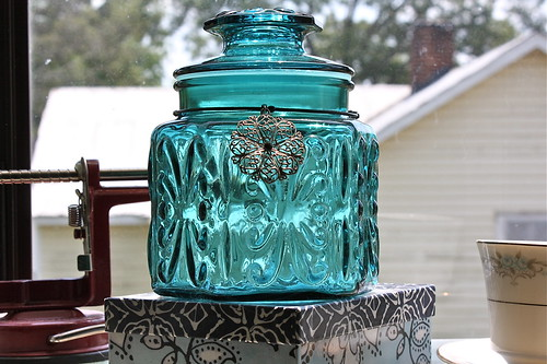 Colored Glass Jar
