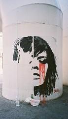 Paris girl crying (busy.pochi) Tags: aps canon canonapsixusz50 film grafitti ixus kodakaps kodakaps200 キヤノン コダック パリ フィルム cry blood larme sang fille girl paris konnysteding konnysterding konny streetart c41 compact