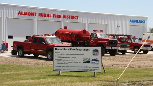 The new fire and ambulance hall in Almont, North Dakota, funded through USDA and the Recovery Act