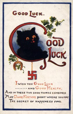 English lucky postcard
