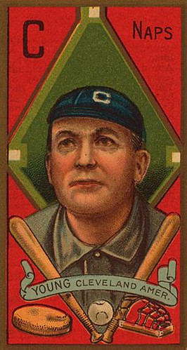 Cy Young, Boston's most famous pitcher, here in his lesser-known stint with Cleveland.