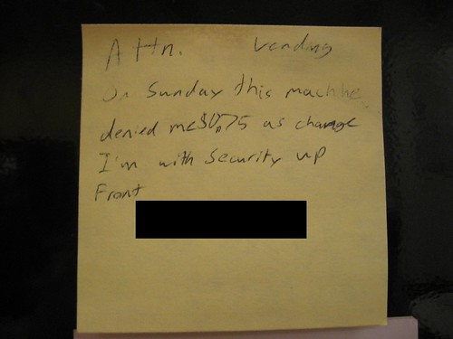 veiled post-it threat???
