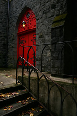 IMG_9202.JPG (sweber4507) Tags: door autumn red fall church oregon stairs portland trinityepiscopalcathedral flickrelite