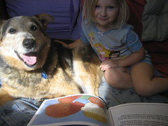 Sharing a book with Jack