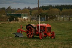 Old Fordson and plough at a farm near Westhill. (tormentor4555) Tags: west ronnies lothian