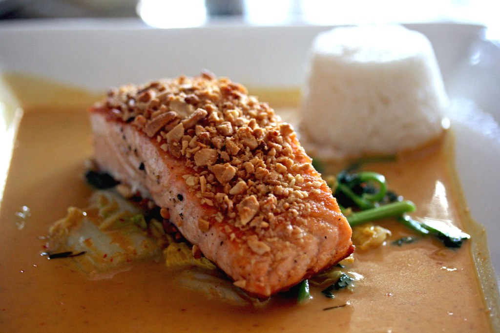 Peanut Crusted Salmon