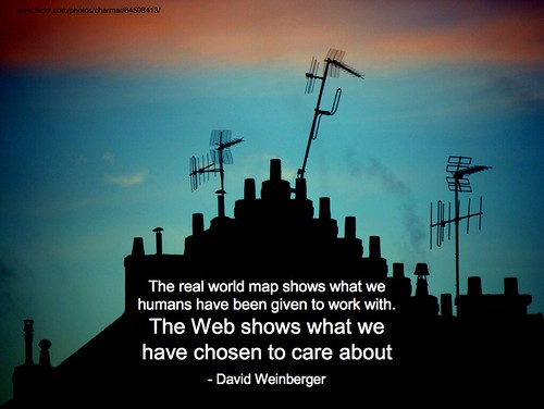 web shows what we have chosen to care about