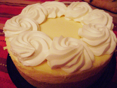 Iain and Ginger's (?) key lime cheesecake from the Cheesecake Factory