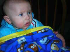 Baby meets Blanket